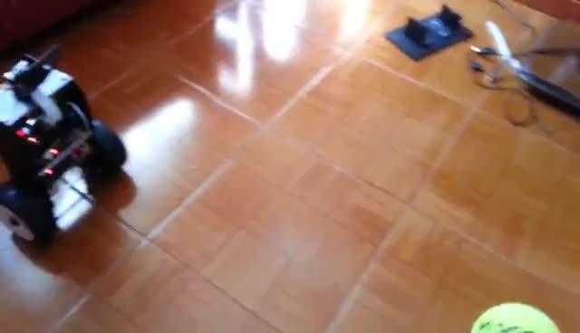 Raspberry Pi camera module openCV object tracking and following self balancing robot GIFs