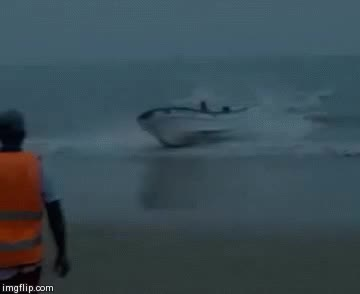 Watch and share Crazy Beach Boat Accident GIFs on Gfycat