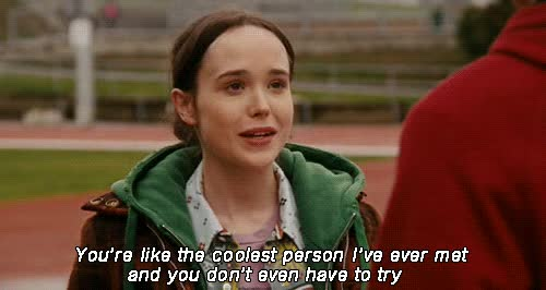 Watch and share Ellen Page GIFs and Flirting GIFs by Reactions on Gfycat