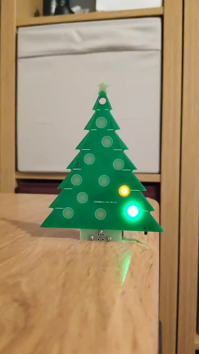 Watch and share PCB Christmas Tree By Brian Lough GIFs by witnessmenow on Gfycat