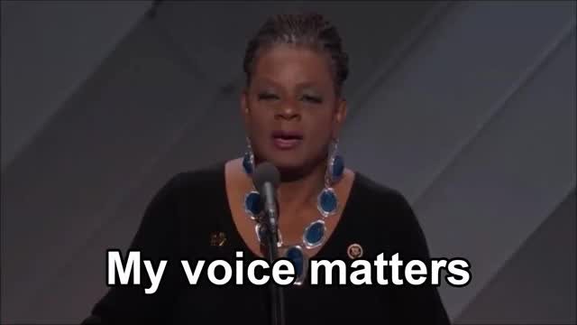 Watch and share My Voice Matters @ DNC 2016 GIFs on Gfycat