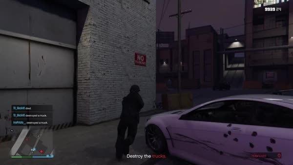 grandtheftautov, ps4gifs, Grenade launcher fail (reddit) GIFs