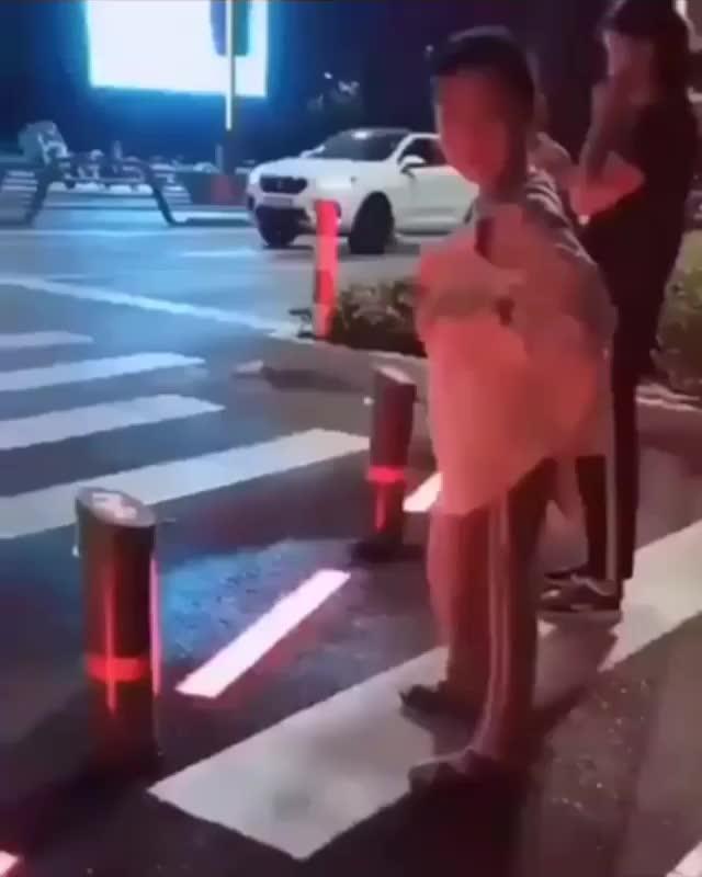 This Crosswalk Warning System GIFs