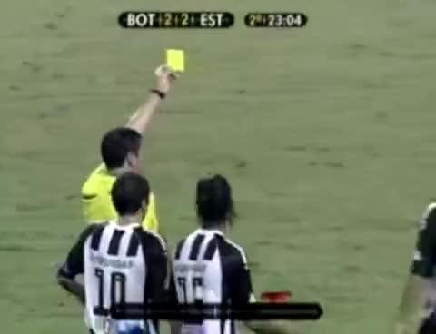 Watch and share Jogador André Luiz Da Cartão Amarelo Para Juiz ! GIFs on Gfycat