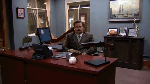 Watch Ron Swanson. Motion Sensors. : PandR GIF on Gfycat. Discover more related GIFs on Gfycat