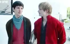 Watch and share Bradley James GIFs and Colin Morgan GIFs on Gfycat