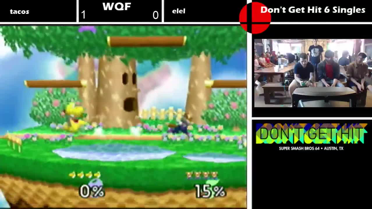 DGH6 - Winner's Quarter Finals - elel(Fox) vs. tacos(Yoshi) SSB64 GIFs