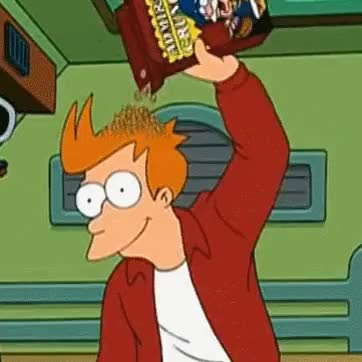 Watch and share Futurama Fry Eating Cereal Head GIFs on Gfycat