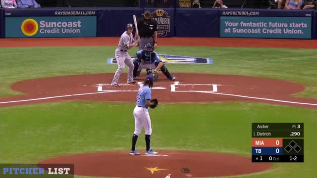 Watch Chris Archer SL 7-22-18 GIF on Gfycat. Discover more Miami Marlins, baseball GIFs on Gfycat