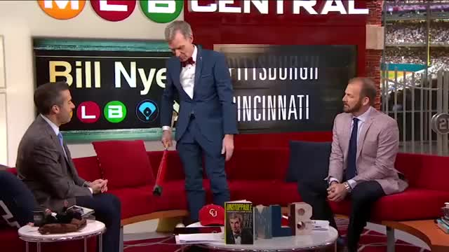 Watch and share Bill Nye Joins MLB Central GIFs by aronsona on Gfycat