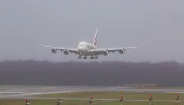 Watch and share 15 AIRBUS A380 Landings And Departures  - Emirates, Lufthansa, Qantas, Singapore ... (LWIA #2) GIFs on Gfycat