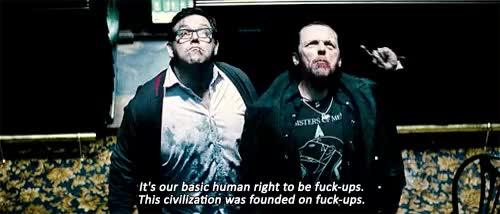 Watch and share Nick Frost GIFs on Gfycat