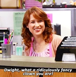 clown, ellie kemper, the office,  GIFs