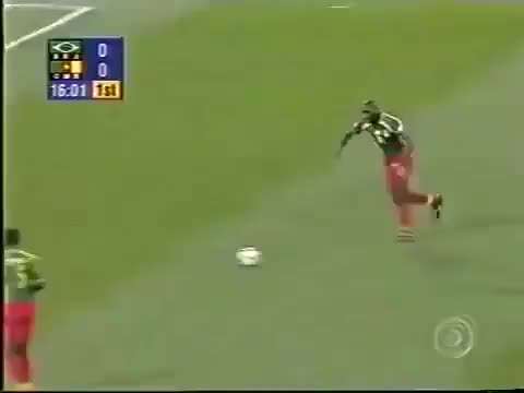 Watch CAMEROON - M'boma vs Brazil, 2000 GIF on Gfycat. Discover more related GIFs on Gfycat