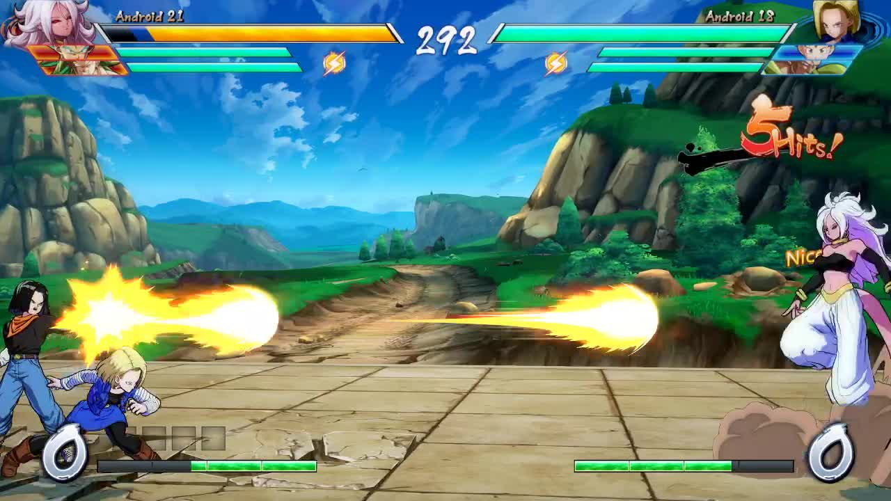 Dragon Ball FighterZ, dbfz, first time using new 18 snap mix GIFs