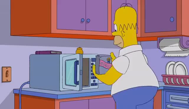 Watch and share Homer Enjoys The Day In His Birthday Suit | Season 28 Ep. 2 | THE SIMPSONS GIFs on Gfycat