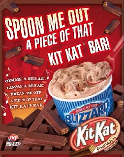 Watch and share Dairy Queen's Kit Kat Blizzardpicture Courtesy Of GIFs on Gfycat