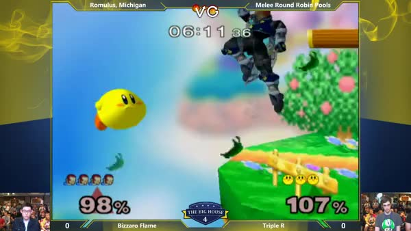 Watch TBH4 - Bizzaro Flame (Ganondorf) Vs. Triple R (Kirby) SSBM Round Robin Pools - smash Melee (reddit) GIF on Gfycat. Discover more smashgifs GIFs on Gfycat