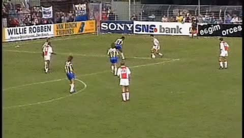 Watch and share Dennis Bergkamp. RKC - Ajax. 04.10.1992 GIFs by fatalali on Gfycat