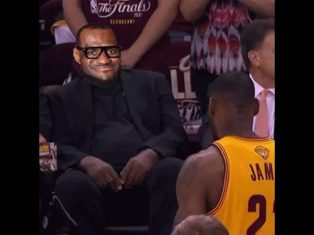 LeBron James, lelbron, A king bows to a legend (reddit) GIFs