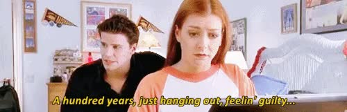Watch and share Willow Rosenberg GIFs and David Boreanaz GIFs on Gfycat