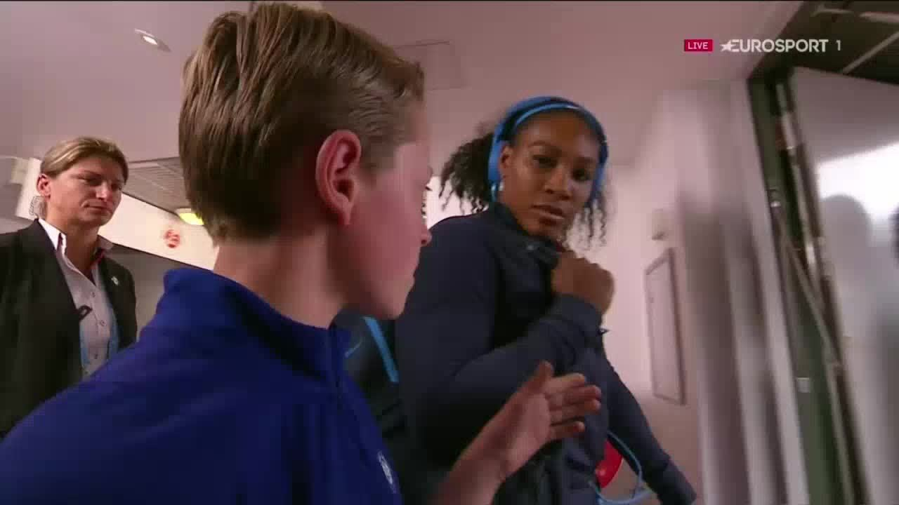 LeftHanging, tennis, Serena leaves kid hanging GIFs