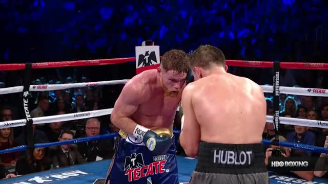 Watch Canelo lands and parries Golovkin's punch.  GIF on Gfycat. Discover more Canelo, Canelo Alvarez, Canelo vs. Golovkin, Canelo vs. Golovkin 2, GGG, Gennady Golovkin, HBO, HBO Boxing, Middleweight, Rematch GIFs on Gfycat