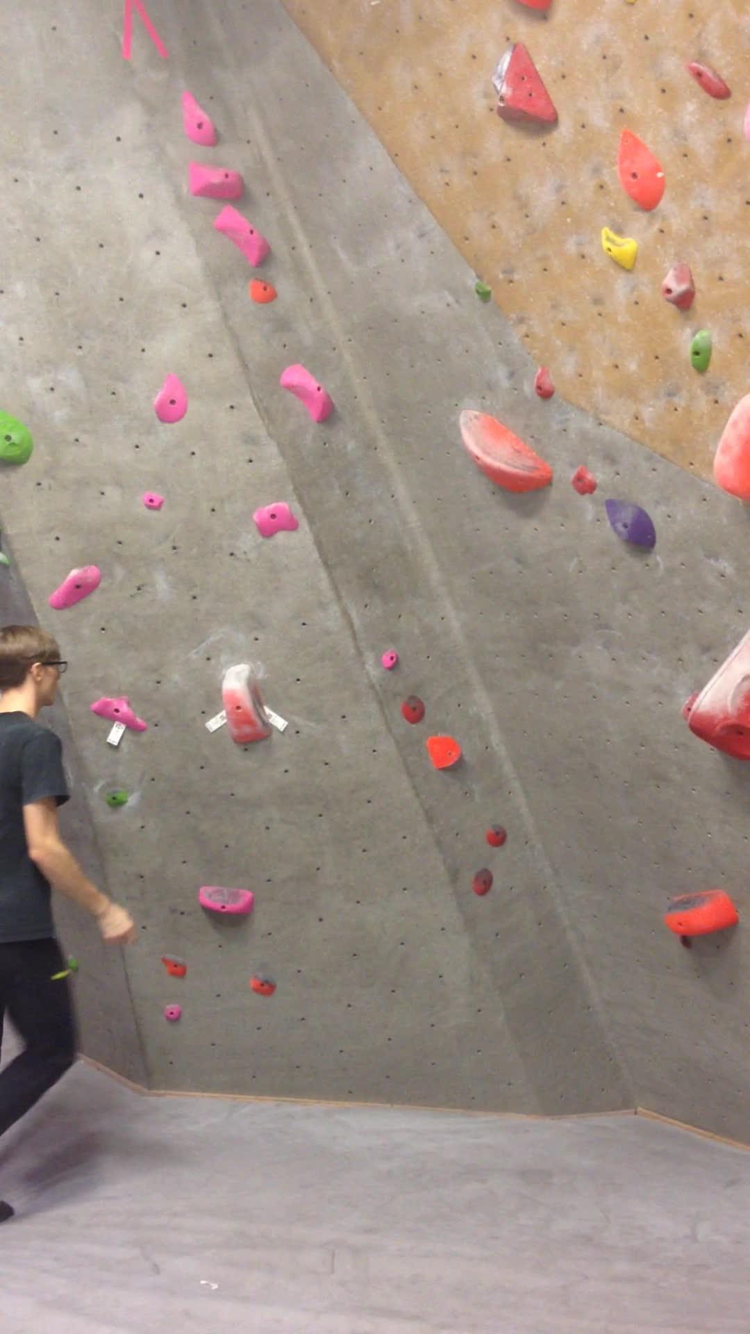 bouldering, V6 unintended dyno GIFs