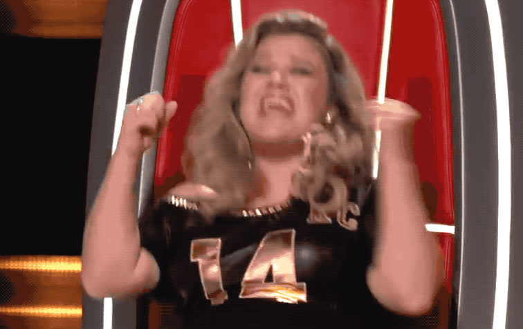 amazing, audition, awesome, blind, clarkson, epic, excited, great, happy, justin, kelly, kilgore, success, the, tomorrow, victory, voice, woohoo, yeah, yes, Kelly Clarkson - Yes GIFs