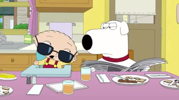 GIF Brewery, deal with it, family, funny, guy, stewie, sunglasses, Stewie - Deal with it GIFs