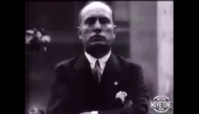 Watch and share Mussolini Speaks To The Americans - 1927 GIFs on Gfycat