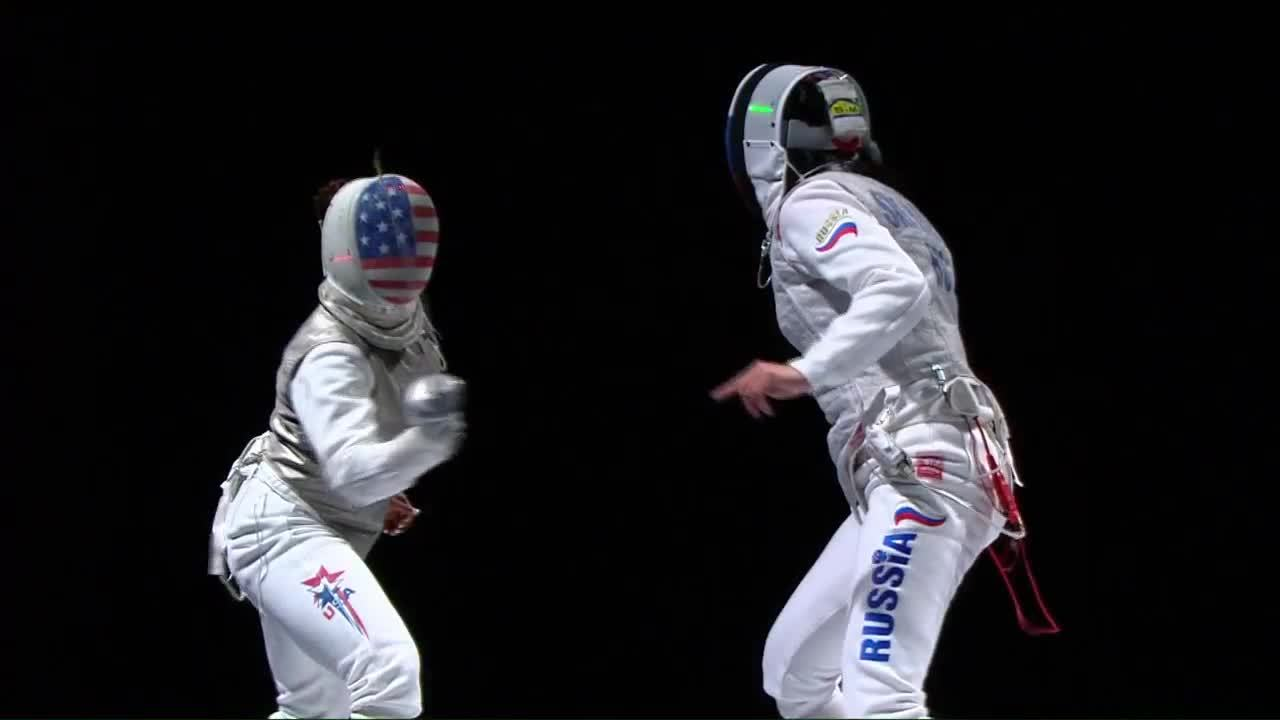 fencing, A. Shanaeva Flick to the back at the World Championships (reddit) GIFs