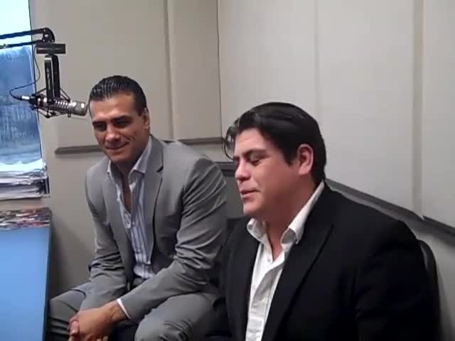 Watch Interview GIF by Blaze Inferno (@metaknightxprophets) on Gfycat. Discover more alberto del rio, chris cruise, fort wayne, hot 107.9, hot 1079, ricardo rodriguez, smackdown, wwe, wwf GIFs on Gfycat