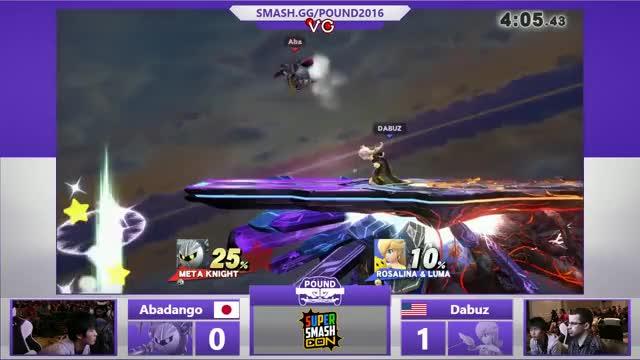 Pound 2016 - Abadango (Metaknight) Vs. Dabuz (Rosalina) SSB4 WQ - Smash Wii U - Smash 4