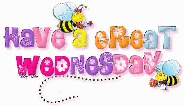 Watch and share Have Great Wednesday Honey Bee Glitter Picture GIFs on Gfycat