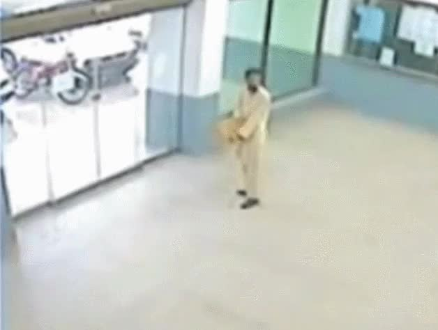 Watch Fuck You Automatic Door! (reddit) GIF on Gfycat. Discover more IdiotsFightingThings, idiotsfightingthings GIFs on Gfycat