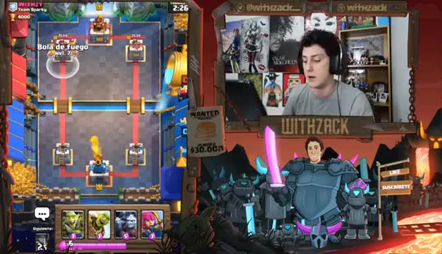 Watch ¡¡ CURACION VS VENENO !!   DUELO EPICO DE HECHIZOS!! - Clash Royale [WithZack] GIF on Gfycat. Discover more related GIFs on Gfycat