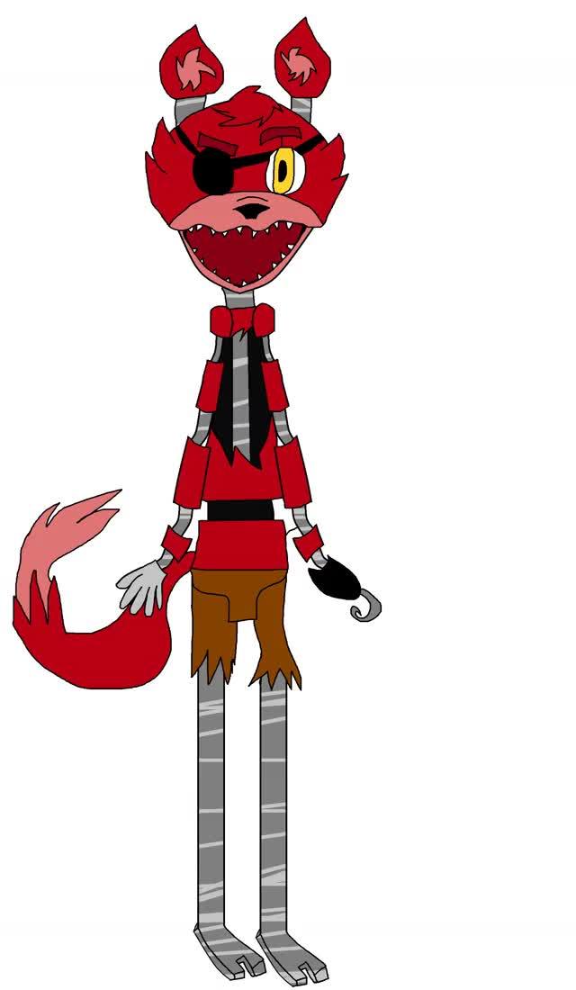 Watch and share Gif Of Foxy The Pirate Fox By XxFuzzyBeeLoverxx GIFs on Gfycat