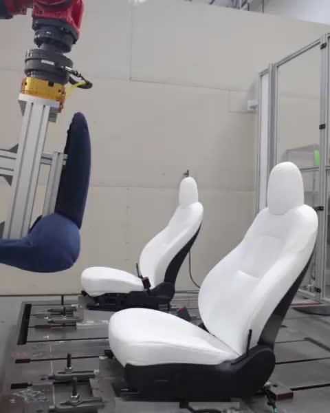 ElonMusk, Model3, Tesla, Seat testing GIFs
