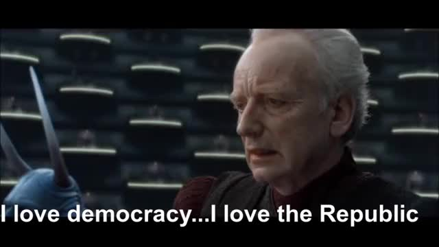 Watch I Love Democracy. I Love The Republic. GIF on Gfycat. Discover more Darkslayer, Film & Animation, Galactic Republic (Organization In Fiction), George Lucas (Celebrity), I Love Democracy, Ian McDiarmid (Film Actor), Star Wars, Star Wars (Film Series), Star Wars Episode II: Attack Of The Clones (Award-Winning Wo GIFs on Gfycat