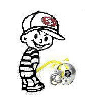 49ERS pissing on Raiders GIFs
