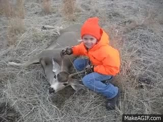 "Watch and share Savannah's First Deer Hunt.  ""Dad, Is This Normal, I'm Not Cold, I'm Just Shaking"" GIFs on Gfycat"