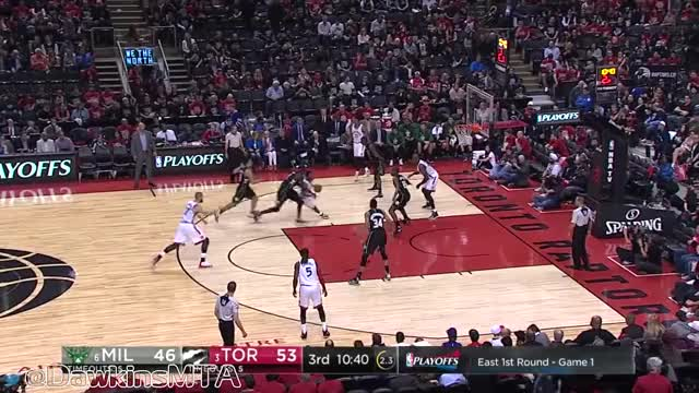 Watch Giannis Antetokounmpo Full Highlights 2017 Playoffs R1G1 at Raptors - 28 Pts, 8 Rebs, 3 Ast, 2 GOOD! GIF on Gfycat. Discover more basketball, dawkins, nba GIFs on Gfycat