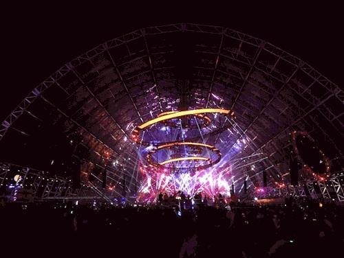 RAVE, circuitgrounds, dj, edc, edc2015, edclv, edm, insomniac, lights, mesmerizing, music, plur, The incredible, enormous CircuitGrounds hangar at EDC GIFs