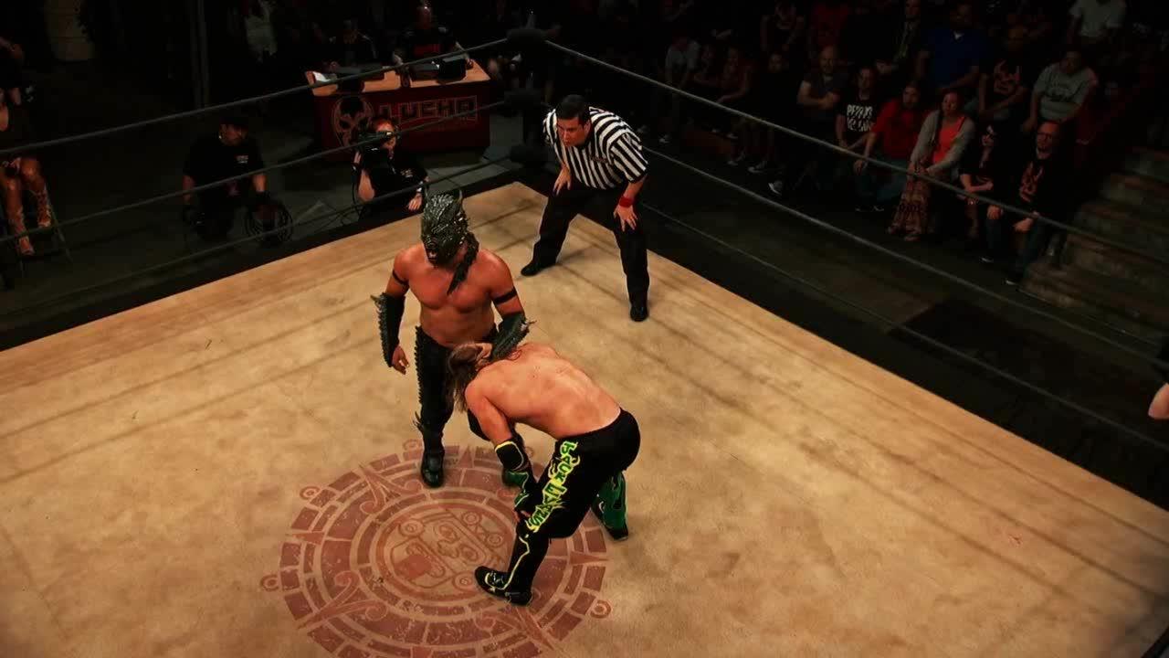 Drago, LuchaUnderground, SquaredCircle, Lucha Underground - Drago's brilliant inside-out blockbuster DDT on Jack Evans! GIFs