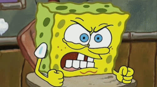 angry, frustrated, fuming, furious, mad, rage, spongebob, Spongebob Angry GIFs