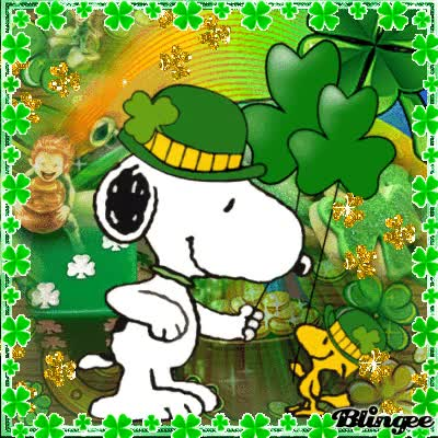 Watch and share Snoopy Saint Patrick´s Day Gif GIFs on Gfycat