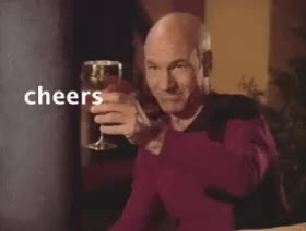 Watch and share Patrick Stewart GIFs and Cheers GIFs on Gfycat