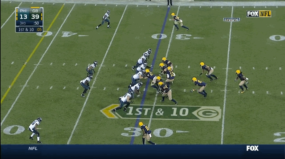 nflgifs, [GB-PHI 11/16/14] Lacy spinning his way into the end zone like a goddamn tornado (reddit) GIFs