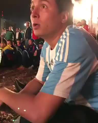 world cup, Plastic fan. He change the Argentina jersey to Croatia Jersey #WorldCup GIFs